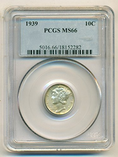 1939 Mercury Dime MS66 PCGS