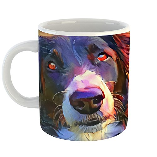 l Painting - 15oz Coffee Cup Mug - Abstract Artwork Home Office Birthday Christmas Gift - 15 Ounce ()