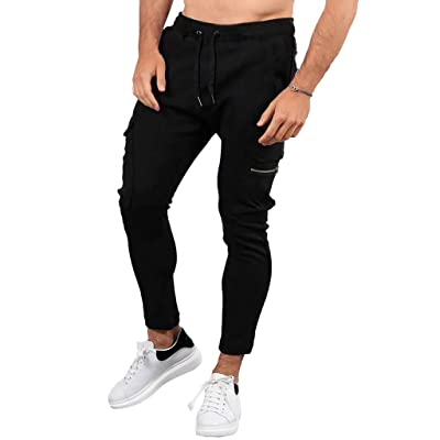 Men\'s Signature Stretch Fabric Slim Jogger Pants Elastic Cuff Sweatpants at Men's Clothing store [5Bkhe0307070]