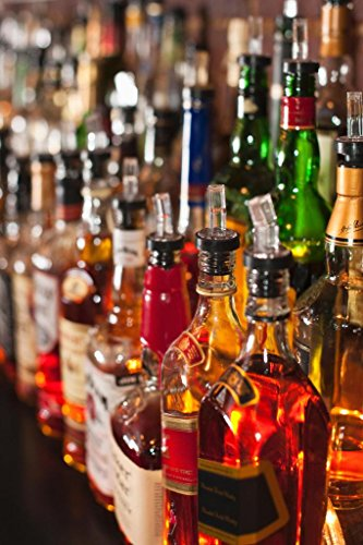 Choices Bottles of Liquor Whiskey Bourbon Sitting on a Shelf