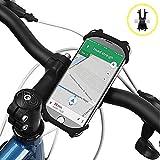 Bike Phone Mount, Amtake Universal Adjustable Silicone Bicycle Motorcycle Handlebar Phone Holder