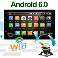 Best Wifi Model Android 6.0 Quad-Core 7 Full touch-screen Universal Car NO DVD player GPS 2 din Stereo GPS Navigation free camera and map