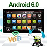 Best Wifi Model Android 6.0 Quad-Core 7'' Full touch-screen Universal Car NO DVD player GPS 2 din Stereo GPS Navigation free camera and map