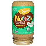 NuttZo Organic 7 Nut & Seed Butter, Peanut Pro - Smooth, 16 Ounce