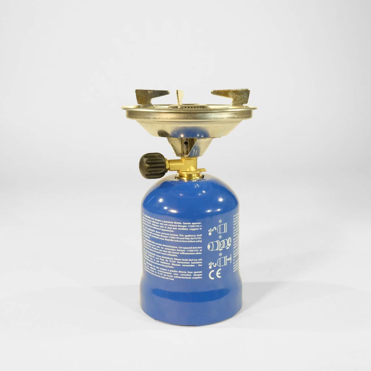 Réchaud à gaz Kemper métal - Réchaud à gaz avec 4 cartouches ...