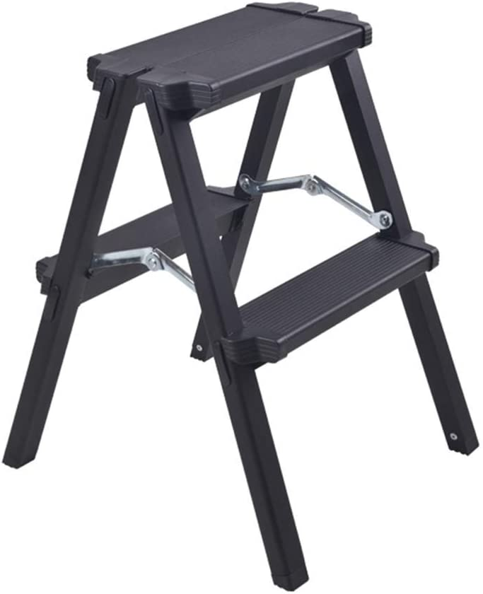MOCHENG Escalera telescópica para el hogar, Plegable, de aleación de Aluminio, multifunción, portátil, Escalera, Taburete de Escalera, estática de Doble Cara: Amazon.es: Hogar