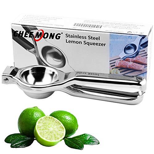 Lemon Lime Squeezer - Manual Lemon Squeezer - Citrus Press Juicer - Hand Press Lime Squeezer for Lemons, Watermelon, Tomato, Citrus (Stainless steel)