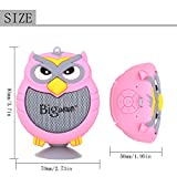 Bluetooth Speaker, Bigwave OWL Design Portable Wireless Mini Speakers with Built-in Mic, Hands-free Speakerphone, Support TF Card, Perfect for Home Car Party and Outdoor Activities (Pink)