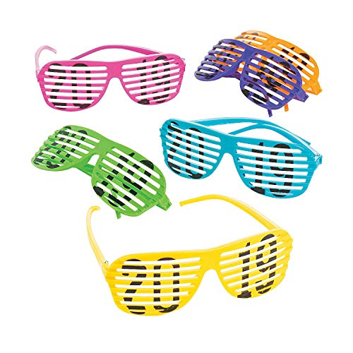 Fun Express - 2019 Neon Shutter Glasses - New Years Item for Boys and Girls of All Ages - Great for the Festivities ()