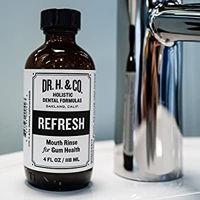 Dr. H. & Co. Dentist Formulated Refresh Mouthwash - All Natural Herbal and Holistic Mouth Rinse for Healthy Gums and Teeth