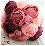 Bouquet of 10 Silk Cloth Simulation Roses, Artificial Flowers for Decoration Wedding, Artificial Flowers Creative Displays (1) offers