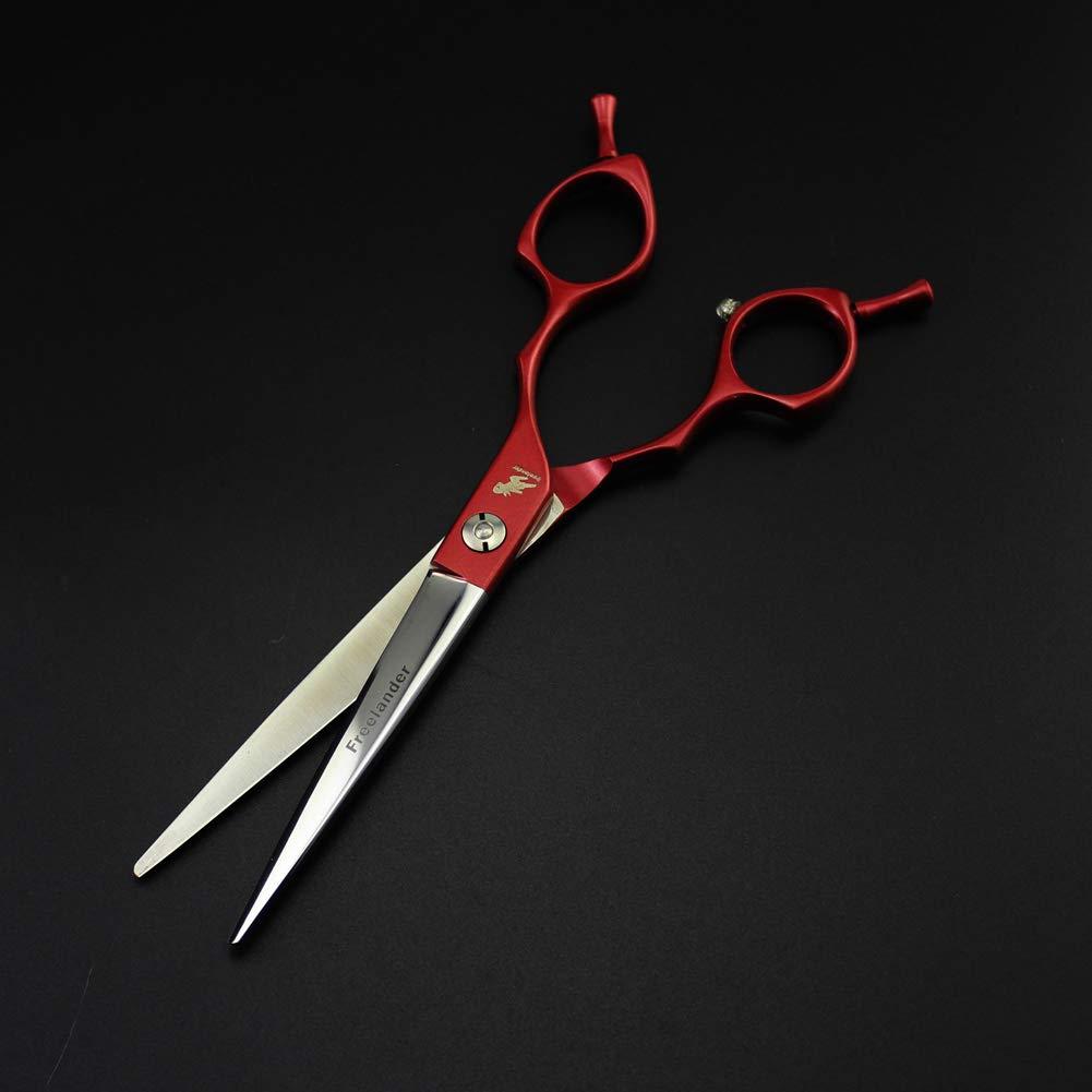 Haustierpflege Schneideschere 6,5 6,5 6,5 Zoll   16,5 cm Edelstahl Professionelle gerade Schere Haarschneideschere kommen in einem schwarzen Fall,rot B07QHBS7XT Geflügelscheren 324349