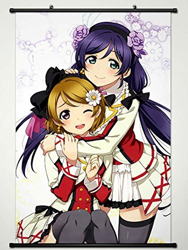 Wall Scroll Poster Fabric Painting For Anime Love Live Eli Ayase & Nozomi Tojo