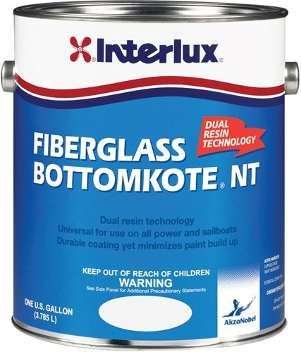 Interlux YBB379/1 Fiberglass Bottomkote NT Antifouling Paint (Black), 128. Fluid_Ounces (Best Bottom Paint For Fiberglass Boats)