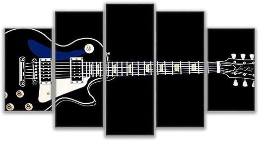 KJLTLD Modern Canvas Print Mural Art Work Picture - Guitarra Negra ...