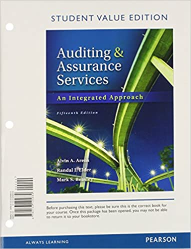 Auditing and assurance services student value edition 15th edition auditing and assurance services student value edition 15th edition standalone book alvin a arens randal j elder mark s beasley 9780133125689 fandeluxe Gallery