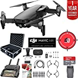 DJI Mavic Air Drone Combo with Remote Controller Extended Fly Bundle with Hard Case, Dual Battery, Landing Pad, Corel Photo Pro, 64GB High Speed Card and 1 Year Warranty Extension  (Onyx Black)