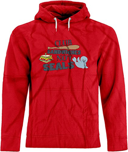 Sandwiches Hoodie Not Seals Club (BSW Unisex Club Sandwiches Not Seals Play On Words Premium Hoodie SM Red)