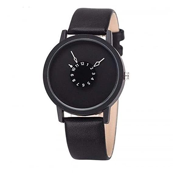 Top 2018 futurista de diseñador Reloj de Pulsera Reloj Mujer Reloj Reloj de Hombre Negro: Amazon.es: Relojes