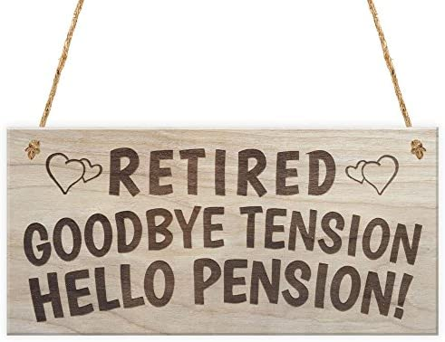 Rojo Océano Retired Adiós tensión Hello Pension jubilación ...