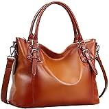 Heshe® Womens Vintage Shoulder Bag Tote Top-Handle Purse Cross Body Big Capacity Handbag