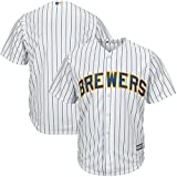 Milwaukee Brewers MLB Men's Big and Tall Cool Base Alternate Team Jersey Pinstripe (4XT)