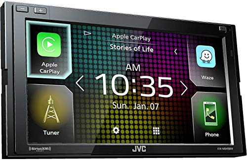 JVC KW-M845BW compatible with Apple CarPlay, Wireless Android Auto 2-DIN AV Receiver (No CD Drive)