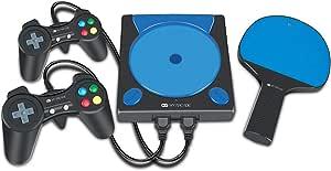 Console Game Station My Arcade Dreamgear com 191 jogos, 2 controladores e raquete sem fio DGUN-2558 Preto e Azul