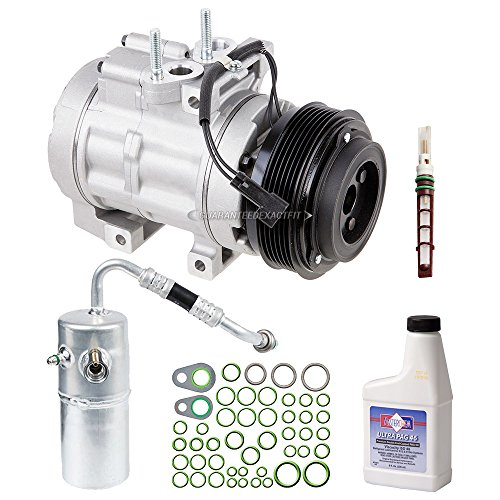 (AC Compressor w/A/C Repair Kit For Ford F150 F-150 Lincoln Mark LT V8 2006 2007 2008 w/ 6-Groove Pulley - BuyAutoParts 60-81387RK NEW)