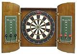 : Halex 64778 Fleetwood Bristle Dartboard Wood Cabinet Set