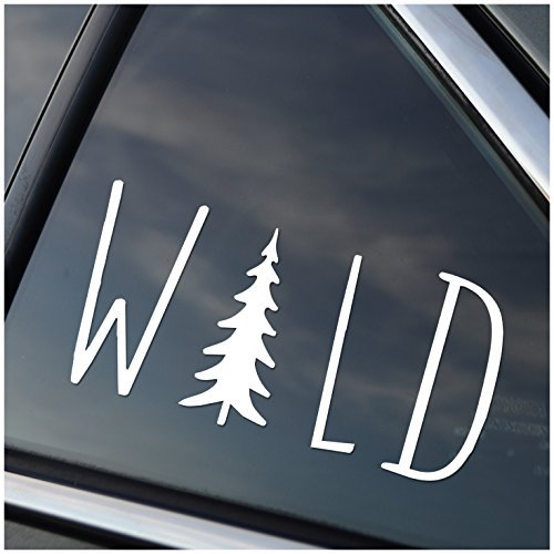 - Wild Hiking Camping Adventure Vinyl Car Window Decal Sticker White