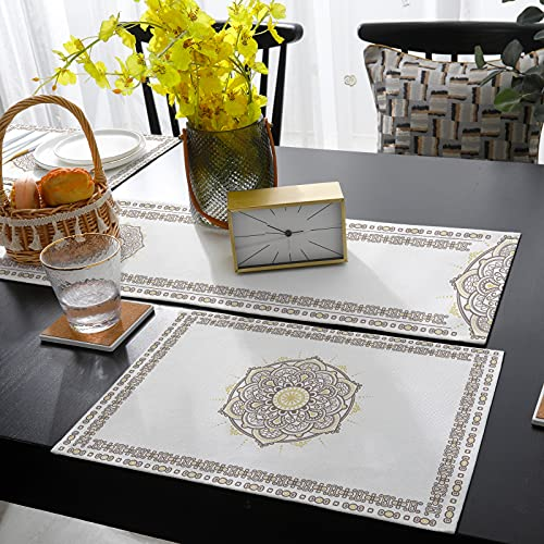 ZEREAA Table Runner, Mandala Paisley Floral Printed for Dining Room, Kitchen, Living Room, Holiday and Party Table Decor 13