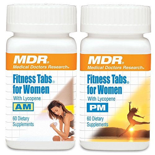 MDR Fitness Tabs Patented Multivitamin for women Doctor Formulated with Right Nutrients at the Right Time - Gluten Free - 2 Month Supply