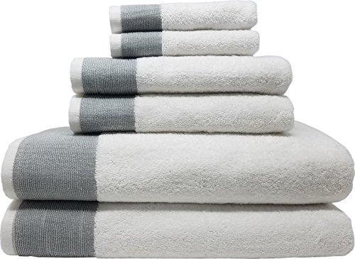 LUNASIDUS Venice Luxury Hotel & Spa Premium 6 pcs Bath Towel Set, 100% Turkish Cotton, Towel Sets, White Towel with…