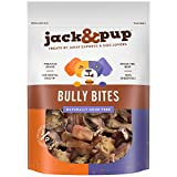 Jack&Pup Premium Grade Odor Free Bully Bites Dog Treats, (2 Lb. Value Pack) – All Natural Gourmet Dog Treat Chews – Fresh and Savory Beef Flavor