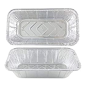 2LB – Loaf Pans – Bread Pans l Disposable Aluminum Loaf Pans, Aluminum Bread Pans l for Homemade Cakes and Breads, Meatloaf – Standard Size, 2 Pounds – 8.5″ X 4.5″ X 2.5″ Made in The USA 50 Pack