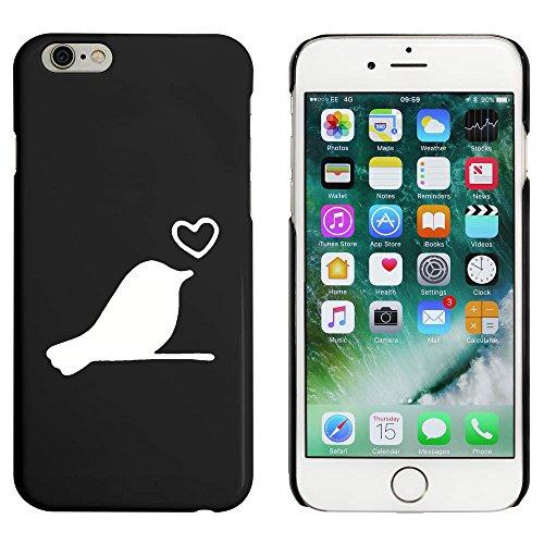 Schwarz 'Liebe-Vogel' Hülle für iPhone 6 u. 6s (MC00088546)