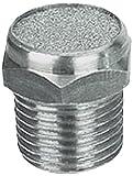 MettleAir SBV-N02 Flat Pneumatic Muffler Filter, Stainless Steel, 1/4'' NPT (Pack of 10)