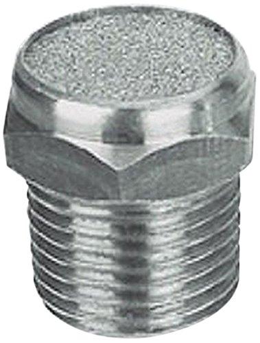 MettleAir SBV-N02 Flat Pneumatic Muffler Filter, Stainless Steel, 1/4'' NPT (Pack of 10) by MettleAir