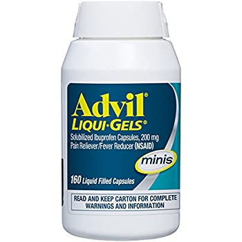 Advil Liqui-gels Minis (160 Count) Pain Relieverfever Reducer Liquid Filled Capsule, 200mg Ibuprofen, Easy To Swallow, Temporary Pain Relief 5