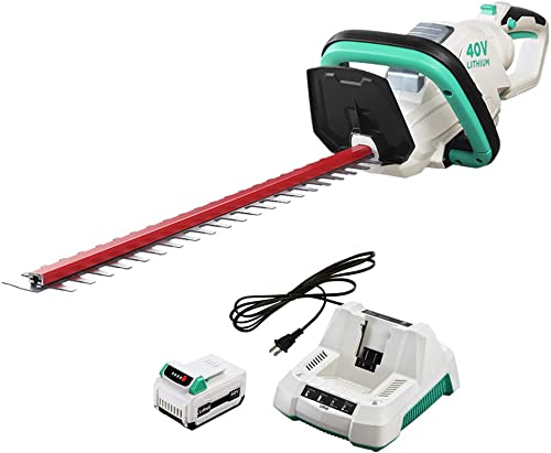 LiTHELi 40V Cordless Hedge Trimmer 21 inches with 2.5AH Battery and Charger