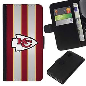 KC - la tarjeta de Crédito Slots PU Funda de cuero Monedero caso cubierta de piel Para LG Nexus 5 D820 D821