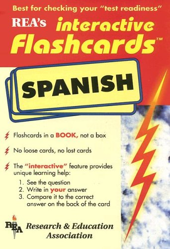 Spanish Interactive Flashcards Book (REA) (Flash Card Books) by The Editors of REA (1998-08-02)