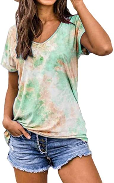 Women/'s Summer Short Sleeve Blouse T Shirt Tops Loose Tunic Casual Tee Plus Size