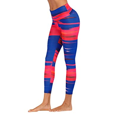 Yoga Pants Zulmaliu Women Mid Waist Gradient Doodle Trousers Fitness Gym Stretch Leggings
