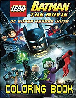 LEGO BATMAN Coloring Book for Kids and Adults - 40 illustrations ...