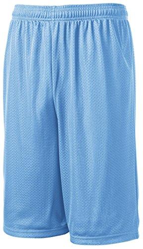 (Sport-Tek Men's Extra Long PosiCharge Classic Mesh Short XL Carolina Blue )