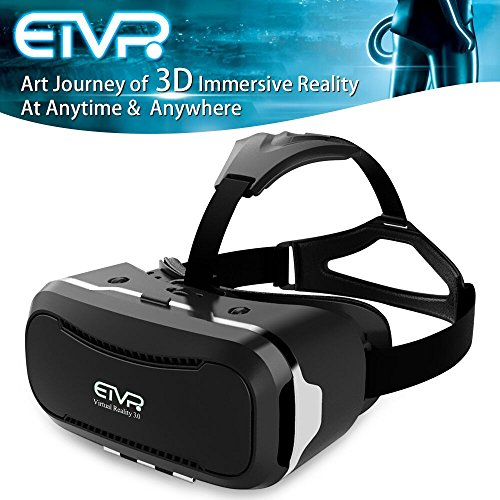 More Fashion Full Immersive Virtual Reality Headsets- ETVR Customize Innovative VR Headset 3D Videos Games Glasses For iPhone Android Smartphone Series (4.5-5.5 Inches)