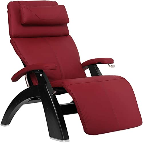 Perfect Chair Human Touch PC-420 Classic Manual Plus Series 2 Black Matte Wood Base Zero-Gravity Recliner