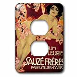 3dRose lsp_169735_6 Parfum Liane Fleurie Paris France French Perfume Poster Reproduction Light Switch Cover